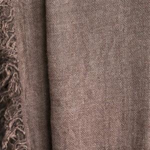 Grosser Kaschmir-Seiden-Schal taupe