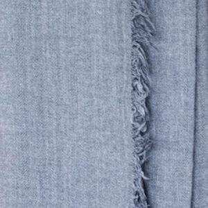 Grosser Kaschmir-Seiden-Schal indigo