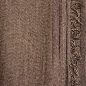 Grosser Kaschmir-Seiden-Schal braun
