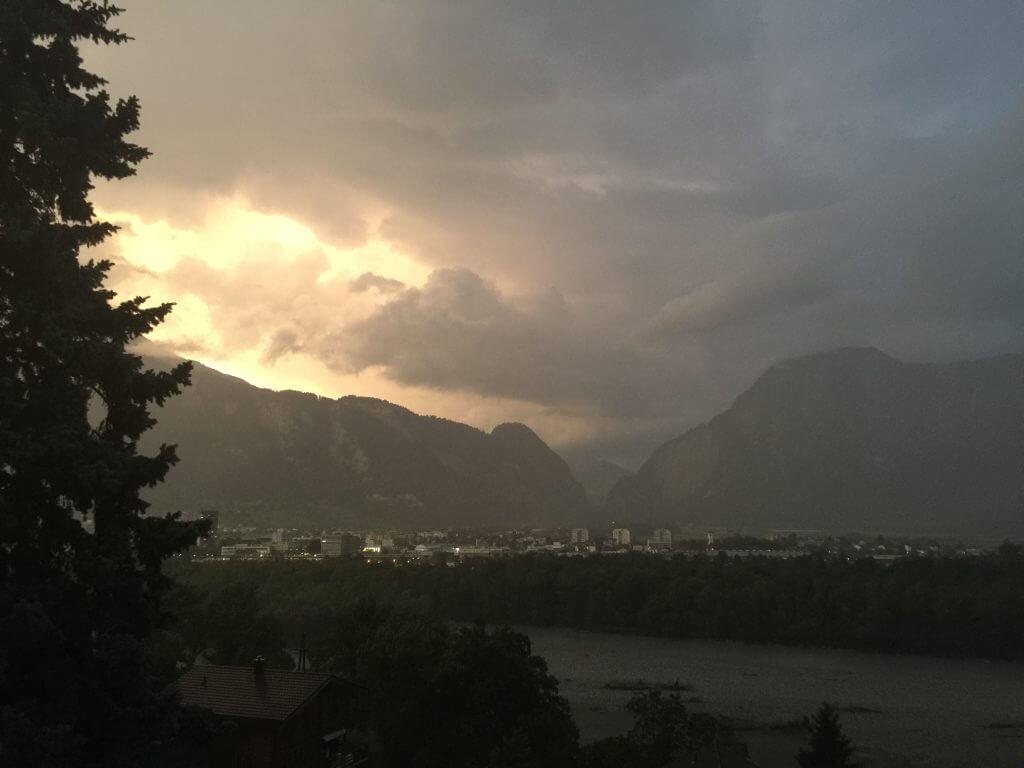 Gewitter über Landquart