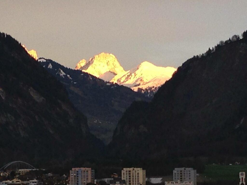 Sonnenuntergang übers Eck