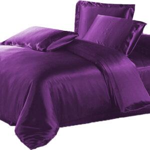 Seidenbettwäsche violett
