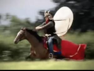 Pfeilfänger Horo - ein Reiter testet
