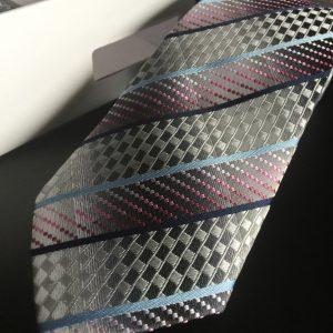 Seidenkrawatte Metallic-Look