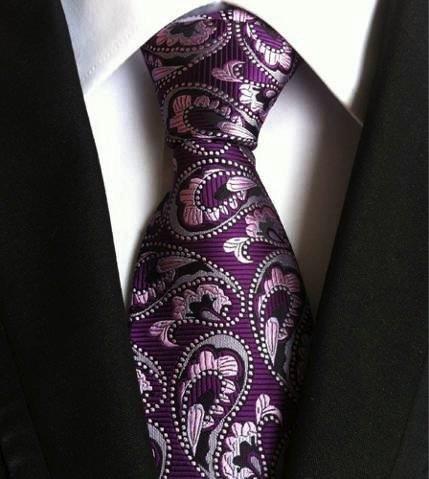 Seidenkrawatte Paisley violett