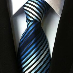 Seidenkrawatte Blautöne gestreift
