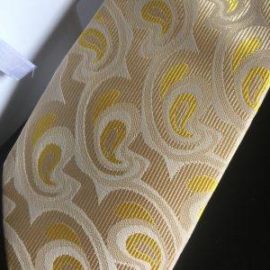 Seidenkrawatte Paisley gelb