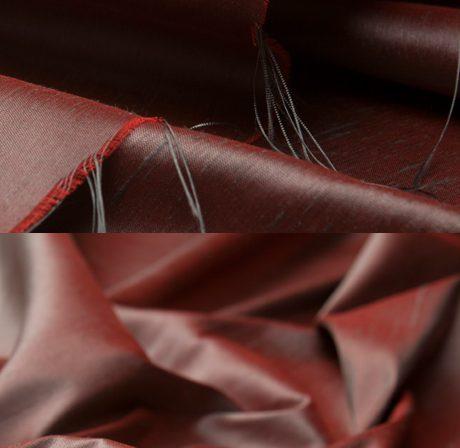 Seidenstoff changeant rot/grau