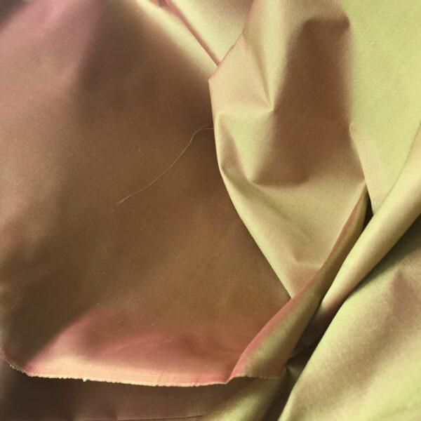 Seide Changeant pink-gelb