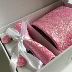 Seidenkrawatte Paisley rosa