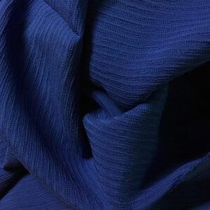 Seidengeorgette Streifen blau