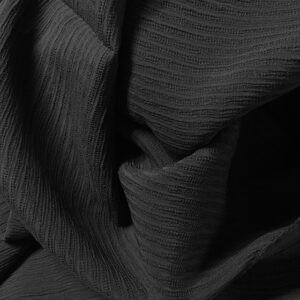 Seidengeorgette Streifen schwarz