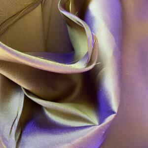 Taft Changeant violett-zitrone